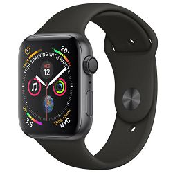 Pametni sat APPLE WATCH Series 4 GPS, 44mm Space Grey Aluminium Case with Black Sport Band