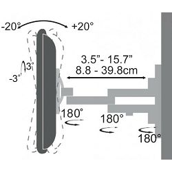 SBOX zidni stalak za TV LCD 443 (23-55