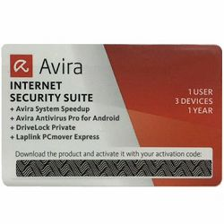 Avira Internet Security Suite SCRATCH CARD 2015 - 1User/1Year - IS15E1EE68G12