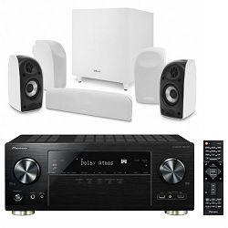Set AV receiver PIONEER VSX-831-K + zvučnici za kućno kino POLK TL1700 bijeli