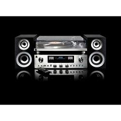 Set gramofon i zvučnici GPO RETRO PR 100/200 BUNDLE srebrni