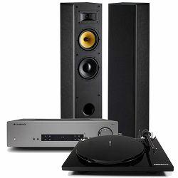Set integrirano pojačalo CAMBRIDGE AUDIO CXA61 + zvučnici DAVIS ACOUSTICS MANI Mk2 + gramofon PRO-JECT ESSENTIAL III PHONO, OM10 crni