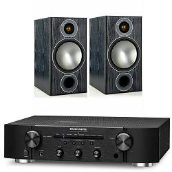 Set integrirano pojačalo MARANTZ PM 6006 crno + zvučnici MONITOR AUDIO BRONZE 2 crni