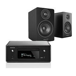 Set mini linija DENON RCD-N10 crna + zvučnici ACOUSTIC ENERGY AE100 black satin
