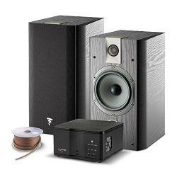 Hifi set MY FOCAL SYSTEM (2x zvučnici CHORUS 706, pojačalo MYAMP, kabel 2x1.5mm12met.) crni