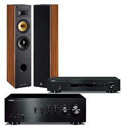 Set pojačalo YAMAHA A-S301 + mrežni audio player YAMAHA NP-S303  + zvučnici DAVIS ACOUSTICS Mani MK2 orah