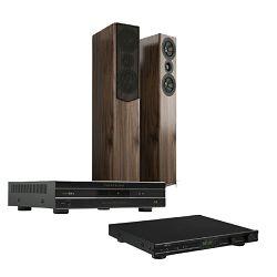 Set pretpojačalo/ DAC PARASOUND 200 Pre + stereo pojačalo PARASOUND 2125 V2 + zvučnici ACOUSTIC ENERGY AE509