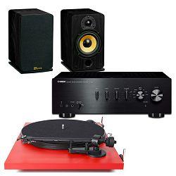 Set stereo pojačalo YAMAHA A-S301 + zvučnici DAVIS ACOUSTICS EVA + gramofon PRO-JECT ESSENTIAL II PHONO USB crveni