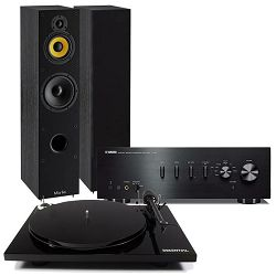 Set stereo pojačalo YAMAHA A-S501 + zvučnici DAVIS ACOUSTICS MIA 60 + gramofon PRO-JECT ESSENTIAL III BT, OM-10 crni