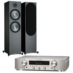 Set zvučnici MONITOR AUDIO Bronze 500 crni + stereo receiver MARANTZ NR 1200 silver