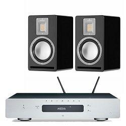 Set zvučnika AUDIOVECTOR QR1 + pojačalo i mrežni player PRIMARE Prisma I15