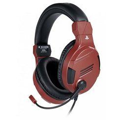 Slušalice s mikrofonom BIGBEN stereo gaming za PS4 v3 crvene (3.5 mm)