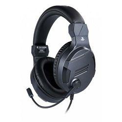 Slušalice s mikrofonom BIGBEN stereo gaming za PS4 v3 Titanium (3.5mm)