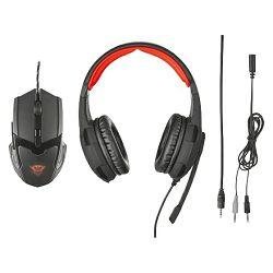 Slušalice s mikrofonom i miš TRUST gaming  GXT784, 3.5mm
