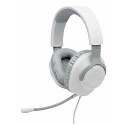 Slušalice s mikrofonom JBL QUANTUM 100, 3.5mm, bijele