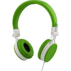 Slušalice STREETZ HL-223, s mikrofonom, 3.5mm, zelene