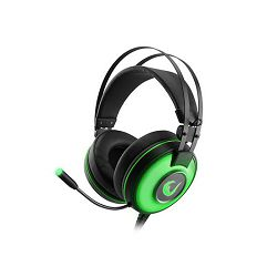 Slušalice RAMPAGE ALPHA-X 7.1 Surround Sound PC/PS4/XBOX zelene s mikrofonom
