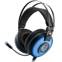 Slušalice RAMPAGE ALPHA-X 7.1 Surround Sound PC/PS4/XBOX plave s mikrofonom