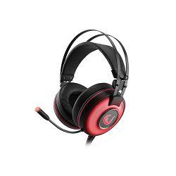 Slušalice RAMPAGE ALPHA-X 7.1 Surround Sound PC/PS4/XBOX crvene s mikrofonom