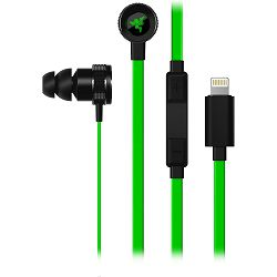 Slušalice s mikrofonom RAZER HAMMERHEAD za IOS - crno zelene