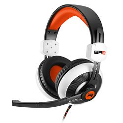 Slušalice s mikrofonom SHARKOON Rush ER2 PC/PS4/XBOX ONE/smartphone 3.5mm bijelo-narančaste