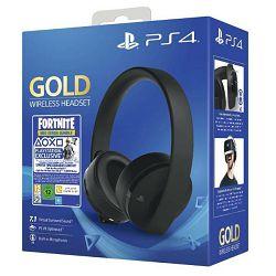 Slušalice za PS4 Wireless Gold Headset Black + Fortnite VCH (2019)