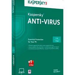 Software KASPERSKY ANTI-VIRUS 2017 1D 1Y+ 3mth renewal