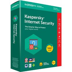 Software KASPERSKY Internet Security 3-Desktop 1 year base