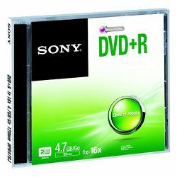 Medij SONY DVD-R, 4,7GB, 16x, kutija