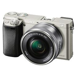 Sony ILCE-6000, 16-50mm, 24,3MP, LCD, silver