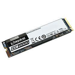 SSD KINGSTON 2000GB KC2000 M.2 2280 NVMe SSD up to 3,200/2,200MB/s EAN: 740617293609