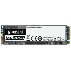 SSD KINGSTON KC2000 NVMe 1000GB,R3000/W2200, M.2 2280