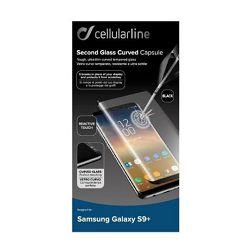 Staklo zaštitno CELLUARLINE SAMSUNG GALAXY S9+ crno