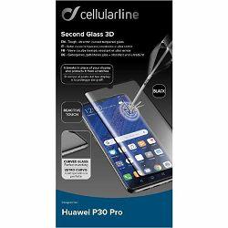 Staklo zaštitno CELLULARLINE za HUAWEI P30 PRO crno