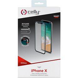 Staklo zaštitno CELLY za iPhone X / XS zakrivljeno prozirno