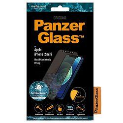 Staklo zaštitno PANZERGLASS za iPHONE 12 mini CF crno
