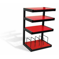 Stalak za HI-FI komponente NORSTONE ESSE HI-FI VINYL crno-crveni 570 mm