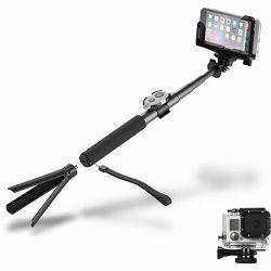 Štap za selfie CYGNETT  - BT i tripod, aluminijski