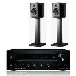 Set stereo receiver ONKYO TX8250 crni + zvučnici ACOUSTIC ENERGY AE301 piano black