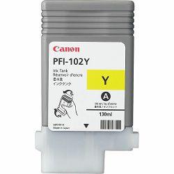Tinta CANON PFI-102 žuta