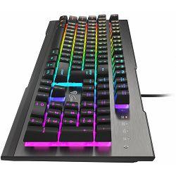 Tipkovnica GENESIS RHOD 500 (gaming, membranska, RGB osvjetljenje, crna/srebrna)