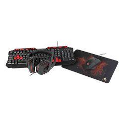 Tipkovnica+ miš+ slušalice+ podloga DELTACO GAM-023UK (gaming set, membranska, RGB osvjetljenje, crna)
