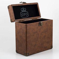 Torba za vinilne ploče GPO RETRO VINYL CASE 7 smeđa