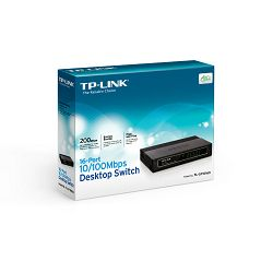 Switch TP-LINK TL-SF1016D,16-port 10/100