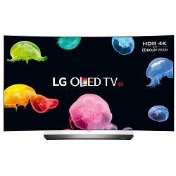 TV LG OLED65C6V (OLED, Curved, 3D, 4K, UHD, Smart TV, DVB-T2/S2, 165 cm)