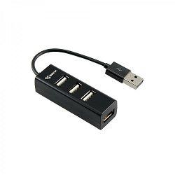 USB HUB SBOX H-204 4-PORTS  USB 2.0 crni