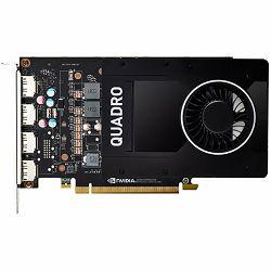 PNY NVIDIA Video Card Quadro P2200 GDDR5X 5GB/160bit, 1280 CUDA Cores, PCI-E 3.0 x16, 4xDP, Cooler, Single Slot (DP-DVI-D Cable incuded) 3yr. warr. Bulk