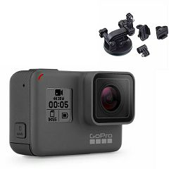 Video kamera GoPro HERO5 Black + poklon nosač suction cup GT-133