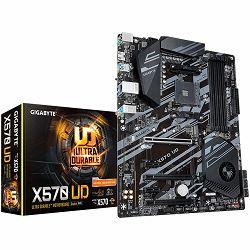 GIGABYTE Main Board Desktop AMD X570 (SAM4, 4xDDR4, 1xPCI-E4.0x16,  1xPCI-Ex8,2xPCI-E3.0x4, 4xUSB3.2 gen1, 2xUSB 2.0, 6x SATA III, 1xM2, RAID,RJ-45, G-LAN)ATX, Retail