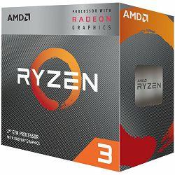 Procesor AMD CPU Desktop Ryzen 3 4C/4T 2200G (3.7GHz,6MB,65W,AM4) box, RX Vega Graphics, with Wraith Stealth cooler